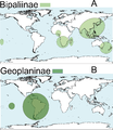 Peerj-430-fig-1 Distribution map terrestrial flatworms.png
