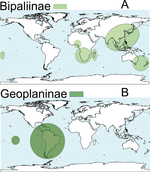 Fichier:Peerj-430-fig-1 Distribution map terrestrial flatworms.png
