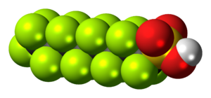 Perfluorooctanesulfonic acid - Image: Perfluorooctanesulfo nic acid 3D spacefill