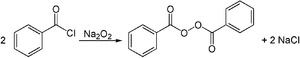 Metal peroxide - Synthesis of dibenzoyl