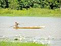 Person on a boat in a reservoir, Ouagadougou, Burkina Faso, 2009.jpg