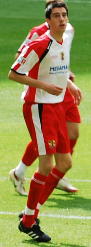 Peter Vincenti - Vincenti playing for Stevenage Borough in the 2009 FA Trophy Final
