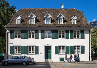 Carl Jung - The clergy house in Kleinhüningen, Basel where Jung grew up
