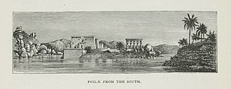 Amelia Edwards - Philae (illustration from A Thousand Miles up the Nile)