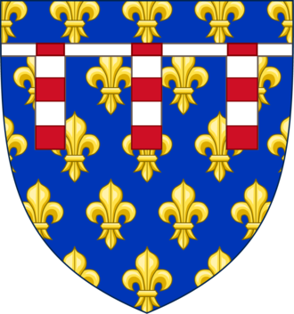 Philip V of France - Arms of Philip as Count of Poitiers