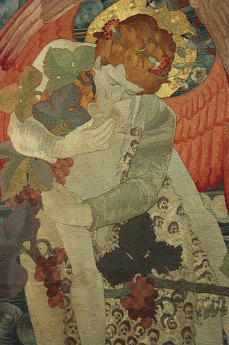 Phoebe Anna Traquair - Phoebe Traquair, detail from 'The Victory', the last of four embroideries in the series 'The Progress of a Soul'.