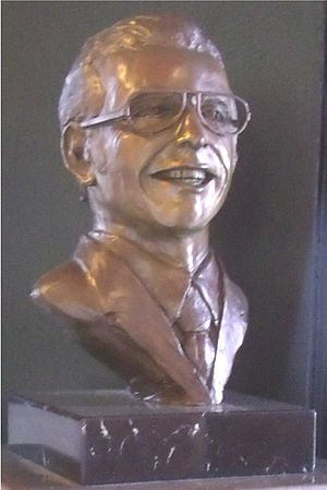 Don Bolles - Bust of Bolles in the Clarendon Hotel, an exhibit dedicated to Don Bolles