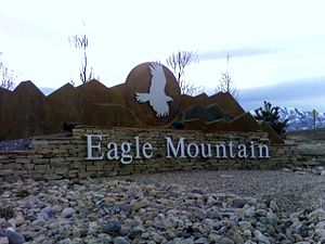Eagle Mountain, Utah - Eagle Mountain monument