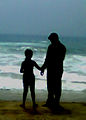 Photograph of Father and Daughter at RK Beach in Visakhapatnam 01.jpg