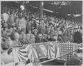 Photograph of President Truman and other officials at Griffith Stadium in Washington for the opening game of the... - NARA - 199574.tif