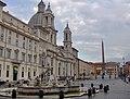 Piazza Navona - overview - Sant'Agnese in Agone - Fontana del Moro - obelisk & Gian Lorenzo Bernini's La Fontana dei Quattro Fiumi - panoramio.jpg