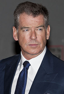 Pierce Brosnan Art Painting