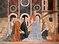 Piero della francesca, cappella bacci, 1452-69 circa, ritrovamento e verifgica della croce 05.jpg