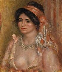 Woman with Black Hair (Jeune femme avec cheveux noirs, buste)