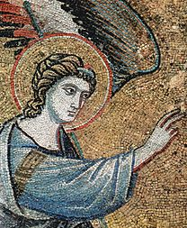 CAVALLINI, Pietro  Annunciation (angel) 1291
