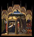Pietro di Giovanni d'Ambrogio - Adoration of the Shepherds between Saints Augustin and Galgano - Google Art Project.jpg