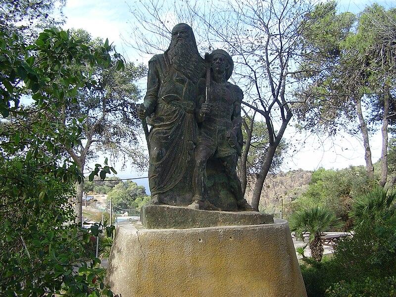 """הפסל """"ישראל סבא"""" בקיבוץ בית אורן"""