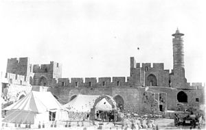 Tower of David Period - Tower of David in late 1920s
