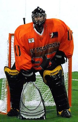 Box Lacrosse League - Pittsburgh Octane goalie Tom Roule in 2014.