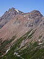 Piz Curvér and Ziteil as seen from below Piz Toissa.jpg
