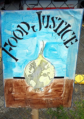 Food Justice Movement - Placard for food justice at the People's Climate March (2014).