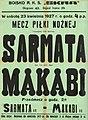 Plakat mecz piłki nożnej Sarmata Makabi boisko SKS Skra 23 kwietnia 1927.jpg