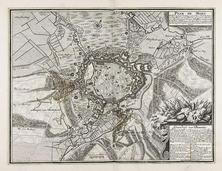 File:Plan de Mons ville capitale du Haynaut et tres Forte tant... - CBT 6625921.jpg