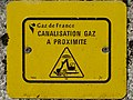 Plaque de signalisation gaz en France 03.jpg