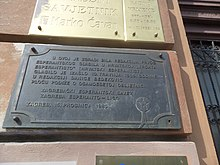 Plaque for the 'Croatian Esperantist' 01.jpg