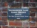 Plaque on Drungewick Lane Bridge - geograph.org.uk - 1440627.jpg