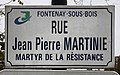 Plaque rue Jean Pierre Martinie Fontenay Bois 3.jpg