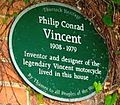 Plaque to Philip Vincent High House Horndon-on-the-Hill.JPG