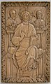 Plaque with Christ enthroned with two Apostles MET sf17-190-41s1.jpg