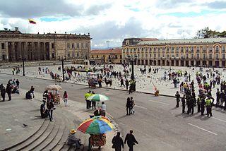 Plaza Bolívar, Bogotá national monument of Colombia