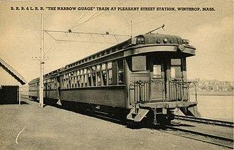 Boston, Revere Beach and Lynn Railroad - Image: Pleasant Street station postcard