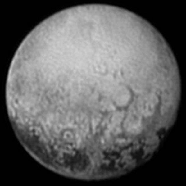 Pluto fotograferad av New Horizons (11 juli 2015)