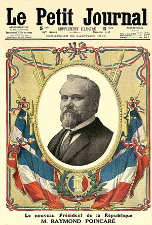 Raymond Poincaré - Le Petit Journal announces the election of Poincaré (1913).