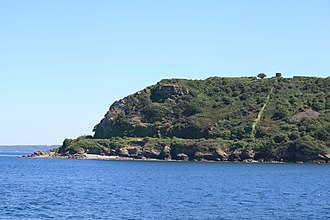 Siege of Fort Crozon - Pointe des Espagnols - present day area of where siege took place