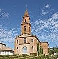 Pompignan (Tarn-et-Garonne) Église Saint-Grégoire - Façade.jpg