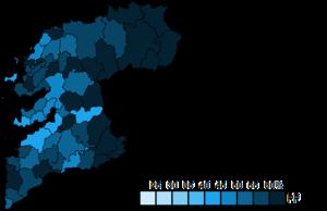 Pontevedra (Congress of Deputies constituency) - Image: Pontevedra Municipal Map Congress 2011