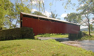 Pool Forge Covered Bridge - Image: Pool Forge Covered Bridge Side View HDR 3000px