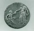 Portrait medal of Paolo Giovio (obverse); Giovio Raising a Man from a Grave (reverse) MET SF-1975-1-1314rev.jpg