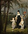 Portrait of Janet MacLean her daughters and their favourite slave Didi.jpg