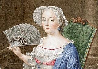 Portret van een dame met waaier