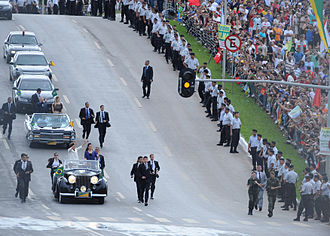 Bodyguard - Team of bodyguards protecting the then Brazilian President Dilma Rousseff during her inaugural ceremony.