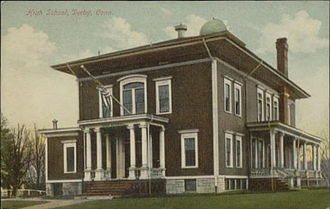 Derby, Connecticut - Derby High School, about 1909