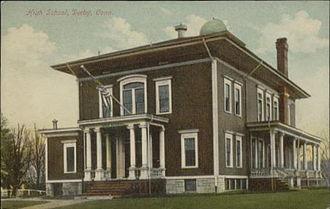 Derby, Connecticut - Derby High School, about 1909