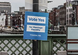 Same-sex marriage in the Republic of Ireland - Fianna Fáil poster in support of the Thirty-Fourth Amendment