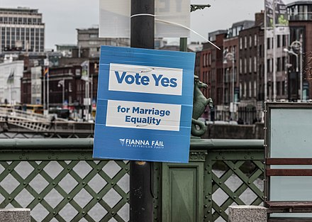 Fianna Fail poster in support of the Thirty-Fourth Amendment Poster Campaign For The Thirty-fourth Amendment of the Constitution (Marriage Equality) Bill 2015- REF-103872 (17185292449).jpg