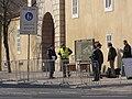 Praha, U Prašného mostu, START 2010, ostraha 02.jpg